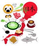 Japanese food collection Stock Photography
