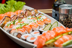 Japanese Food combo. Japanese food, Japanese restaurant, oriental food Stock Photo