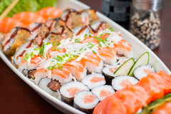Japanese Food combo. Japanese food, Japanese restaurant, oriental food Royalty Free Stock Photo