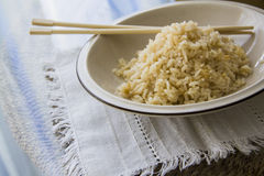 Japanese food: cooking healthy rice Stock Photo