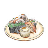 Japanese food drawing on  art Stock Photo