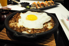 Japanese food with egg Stock Photography