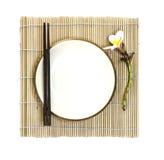 Japanese food empty dish Royalty Free Stock Photos