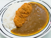 Japanese food fry pork curry Stock Photo