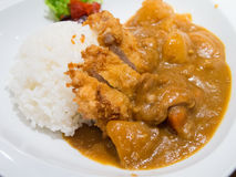Japanese food fry pork curry Royalty Free Stock Images