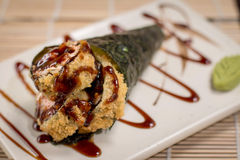 Japanese Food hot temaki. Japanese food, Japanese restaurant, oriental food Stock Image