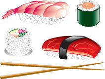 Japanese Food Icons Stock Image