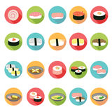 Japanese food icons set. Royalty Free Stock Image