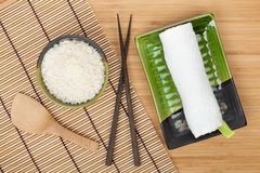 Japanese food ingredients and utensils Royalty Free Stock Photography