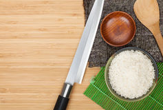 Japanese food ingredients and utensils Royalty Free Stock Photos