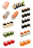 Japanese food isolated on white royalty free stock photography