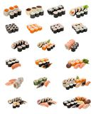 Japanese food isolated on white Royalty Free Stock Image