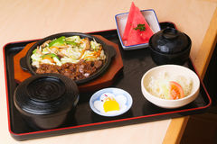 Japanese food. japanese food collection Royalty Free Stock Photography