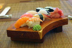 Japanese food, kabuki. Interior and menu japanese restaurant stock image