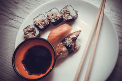 Japanese food: maki Royalty Free Stock Images