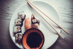 Japanese food: maki Stock Photos