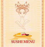 Japanese food menu Royalty Free Stock Image