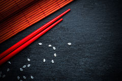 Japanese food menu background Royalty Free Stock Photo
