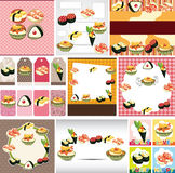 Japanese food menu card Stock Images