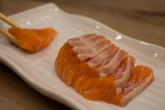 Japanese food mix sushi. Fish wheel water victuals unite turn sway shuhi spin salmon rotation roller Royalty Free Stock Image