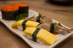 Japanese food mix sushi Royalty Free Stock Photography