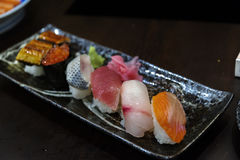 Japanese  food nigiri sushi Stock Photos