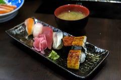Japanese  food nigiri sushi Royalty Free Stock Photos