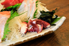 Japanese food with octopus Stock Images