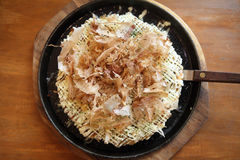 Japanese food okonomiyaki , Japanese pizza Stock Images