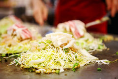 Japanese food okonomiyaki , Japanese pizza Royalty Free Stock Photography
