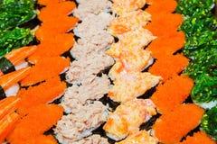 Japanese food palatable. Including sushi, Japanese food palatable royalty free stock images