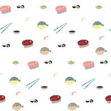 Japanese food pattern Royalty Free Stock Photography