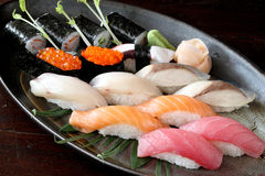Japanese food raw salmon tuna saba Sushi Stock Photography