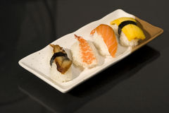 Japanese Food with raw sushi Royalty Free Stock Photo