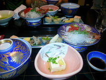 Japanese food. At restaurant in Japan Royalty Free Stock Images