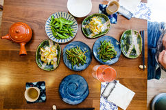 Japanese food at the restaurant Stock Images