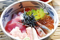 Japanese food rice with fish Stock Photo