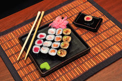 Japanese food rolls Royalty Free Stock Images