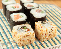 Japanese food rolls Sushi Royalty Free Stock Photos