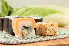 Japanese food rolls Sushi Royalty Free Stock Image