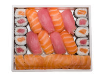 Japanese food rolls and sushi Stock Images
