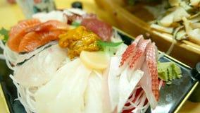 Japanese food sashimi. On the dish stock image