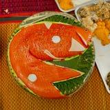 Japanese food- Sashimi display look like big fish Stock Images