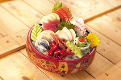 Japanese food sashimi platter Stock Photo