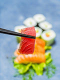 Japanese food sashimi set Royalty Free Stock Photography