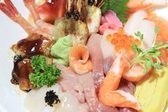 Japanese food sashimi set Royalty Free Stock Photo