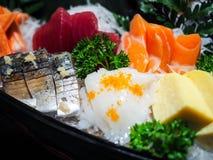 Japanese Food. Sashimi in Japanese Food such as salmon, tuna Royalty Free Stock Photos