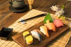 Japanese food. Sashimi Sushi set Stock Images