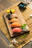 Japanese food. Sashimi Sushi set Stock Photo