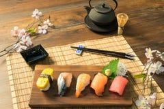 Japanese food. Sashimi Sushi set Stock Photography